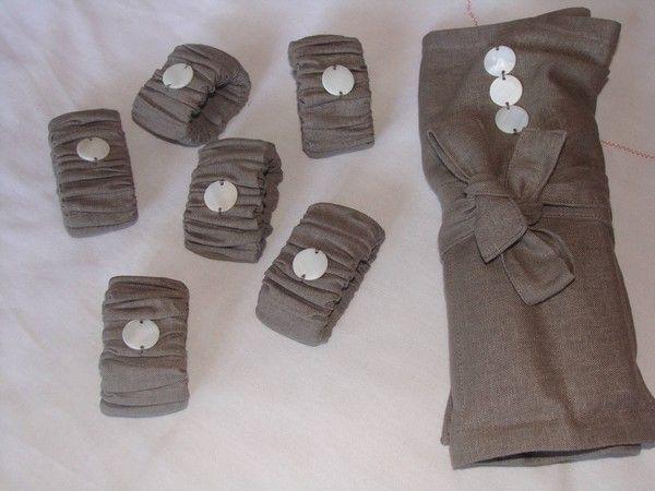 Porte serviette de table en tissu - Porte serviettes de table ...